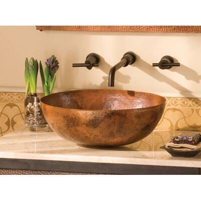 Maestro Metal Oval Vessel Bathroom Sink Sink Finish: Tempered Copper