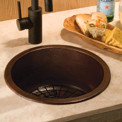 15 x 15 Drop-In Bar Sink Finish: Antique Copper