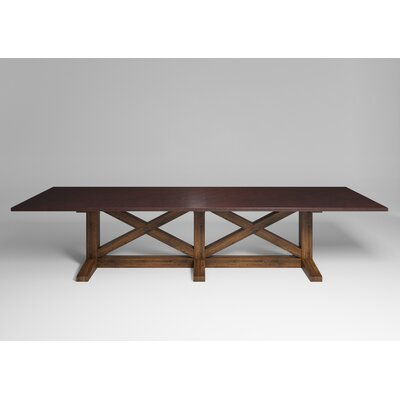 Viola Dining Table Top Color: Antique Copper, Size: 30.5 H x 144 W x 54 D