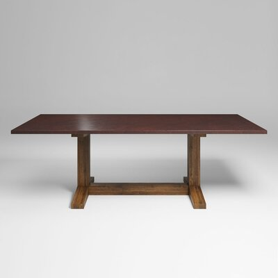 Mette Farmhouse 96 Dining Table Color: Anitque Copper