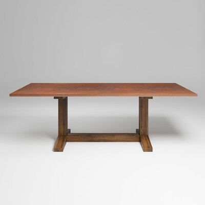 Mette Farmhouse 96 Dining Table Color: Tempered Copper