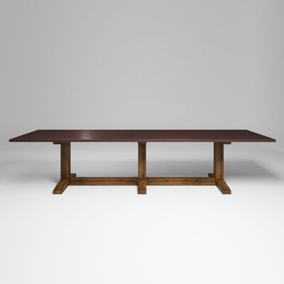 Xenia Dining Table Top Color: Anitque Copper, Size: 30.5 H x 144 W x 42 D
