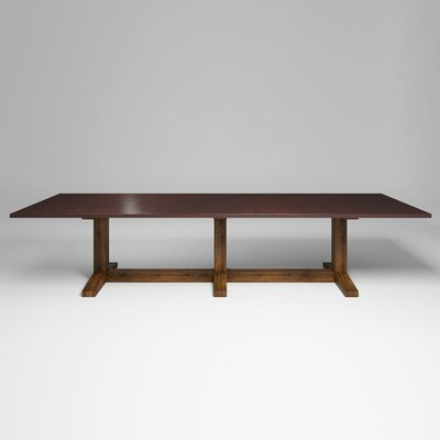 Xenia Dining Table Top Color: Antique Copper, Size: 30.5 H x 144 W x 54 D