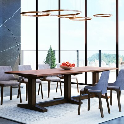 Xenia Dining Table Top Color: Tempered Copper, Size: 30.5 H x 144 W x 54 D