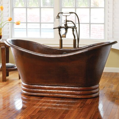 72 x 32 Aurora Copper Bathtub Finish: Antique Copper