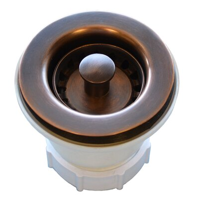 2 Lift and turn Kitchen Sink Drain Finish: Solid Copper