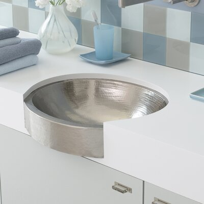 Copper Oval Undermount Bathroom Sink Sink Finish: Brushed Nickel