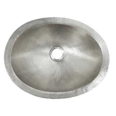 Baby Classic Metal Oval Undermount Bathroom Sink