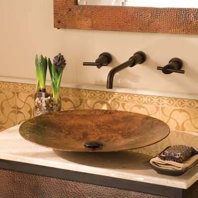 Maestro Mandala Circular Vessel Bathroom Sink Sink Finish: Tempered Copper