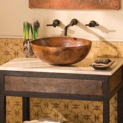 Maestro Copper Oval Vessel Bathroom Sinks Sink Finish: Tempered Copper