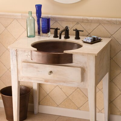Copper Oval Undermount Bathroom Sink Sink Finish: Antique Copper
