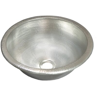 Copper Circular Undermount Bathroom Sink Sink Finish: Brushed Nickel