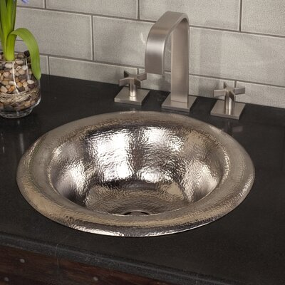 Maestro Metal Circular Drop-In Bathroom Sink Sink Finish: Brushed Nickel