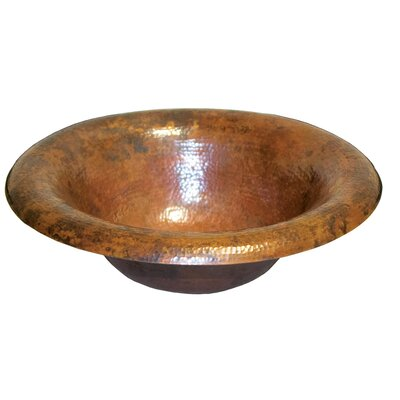 Maestro Metal Circular Drop-In Bathroom Sink Sink Finish: Tempered Copper