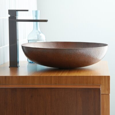 Maestro Sonata Copper Circular Vessel Bathroom Sink