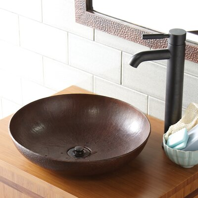 Maestro Sonata Petit Copper Circular Vessel Bathroom Sink