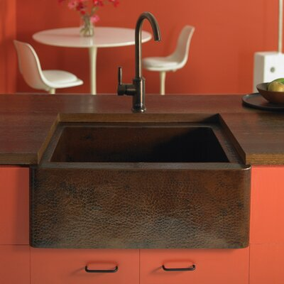 Farmhouse 25.5 x 22 Copper Kitchen Sink Finish: Antique Copper