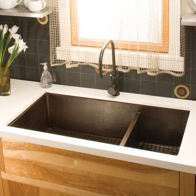 Cocina 40 x 22 Duet Pro Copper Kitchen Sink Finish: Antique Copper