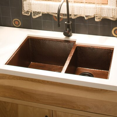 Cocina 33 x 22 Duet Copper Kitchen Sink Finish: Antique Copper