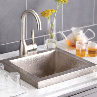 Manhattan 17 x 15 Drop-In Bar Sink Finish: Brushed Nickel
