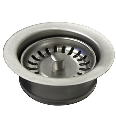 Sink 4.5 Basket Strainer with Disposer Trim Finish: Brushed Nickel