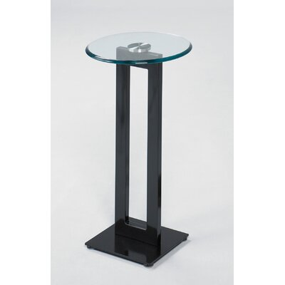 Tribute Pedestal Plant Stand Top Finish Black Base Finish Chrome Matte Finish Size 30