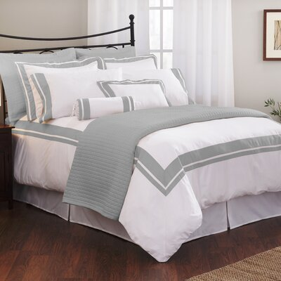 Wildon Home Inlay Duvet Cover Collection - Size: King, Color: White / Ecru at Sears.com