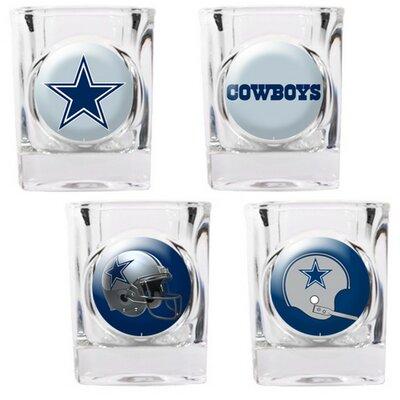 4 Piece NFL Collector's Shot Glass Set NFL Team: Dallas Cowboys 41103