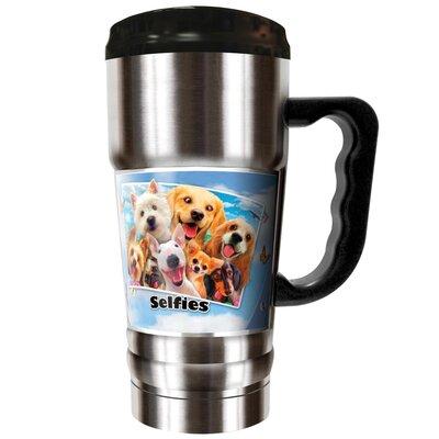 Dog Selfies 20 oz. Stainless Steel Travel Tumbler SCH25158