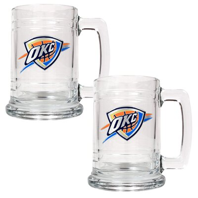 Great American Products NBA 15oz Glass Tankard 2 Piece Set - Primary Logo - NBA Team: Oklahoma City Thunder at Sears.com