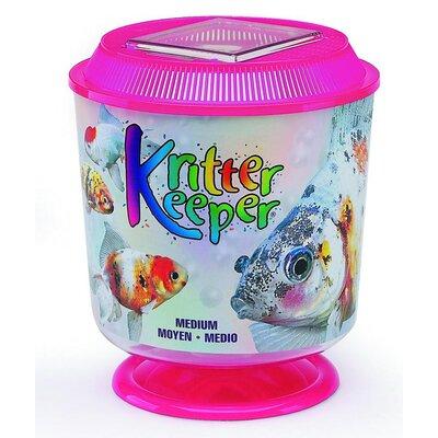 Kritter Keeper Round Fish Home Aquarium Bowl (Set of 3) Size: Medium, Color: Pink