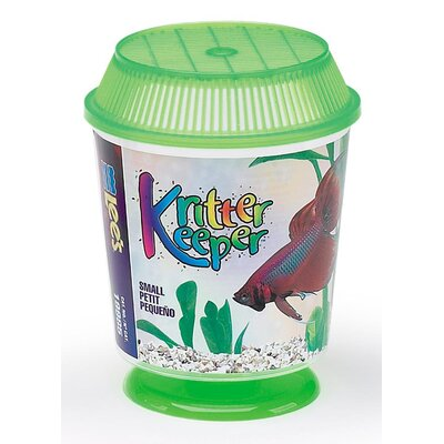 Kritter Keeper Round Fish Home Aquarium Bowl Size: Medium, Color: Pink