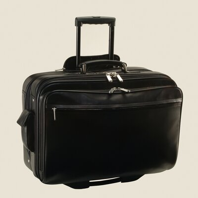 Royce Leather Executive Rolling Laptop Briefcase Travel Bag
