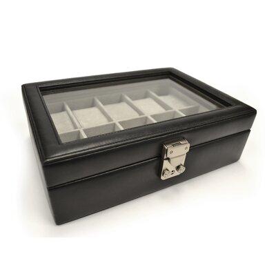 Luxury 10 Slot Watch Jewelry Box in Genuine Leather