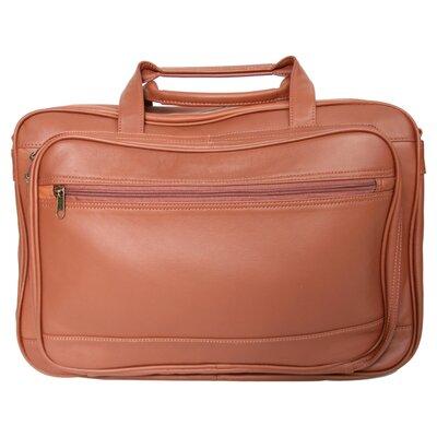 Royce Leather Expandable Laptop Briefcase Organizer Bag Color: Tan