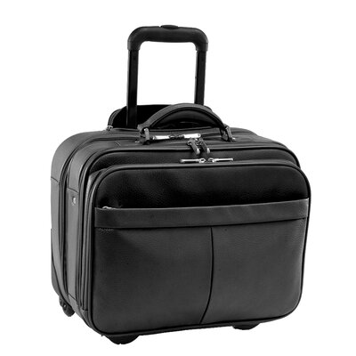 Royce Leather Rolling Laptop Briefcase Travel Bag Color: Black