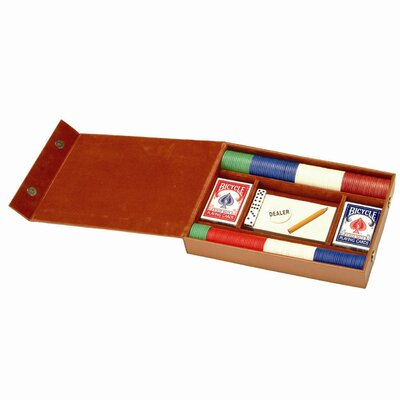 Royce Leather Professional Poker Gaming Set in Bonded Leather 608-8+38