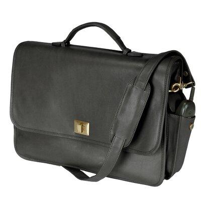 "Royce Leather 15"" Laptop Briefcase Bag Color: Black"