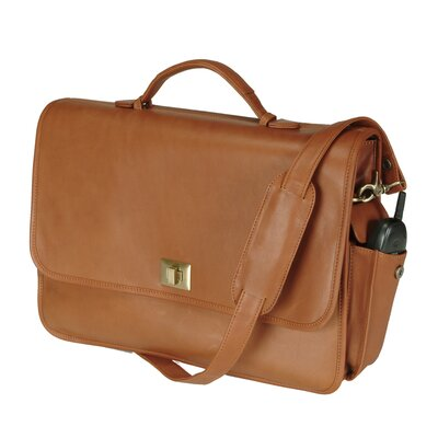 "Royce Leather 15"" Laptop Briefcase Bag Color: Tan"