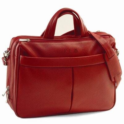 Genuine Leather Laptop Shoulder Bag Briefcase Color: Red