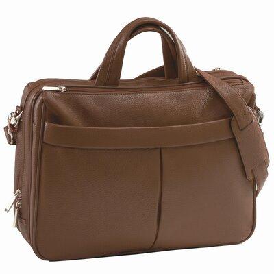 Genuine Leather Laptop Shoulder Bag Briefcase Color: Chocolate