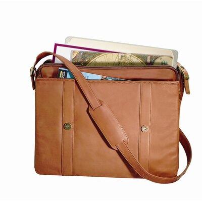 """Royce Leather Expandable 15"""" Laptop Briefcase Bag Color: Tan"""