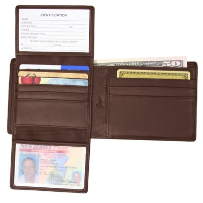 Royce Leather Genuine Leather RFID Blocking Men's Executive Bifold Wallet - Color: Coco at Sears.com