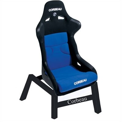 Image of Corbeau FX1 Black Cloth w/ Blue Game Chair (CRB1144)