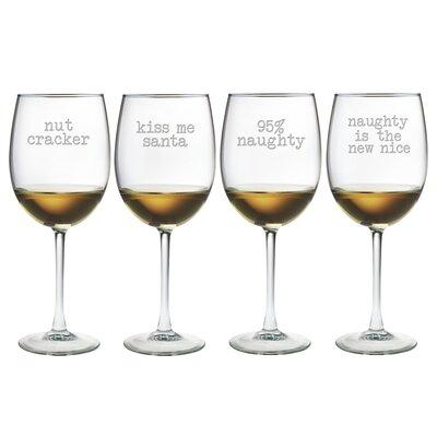 Naughty Christmas Wine Glass