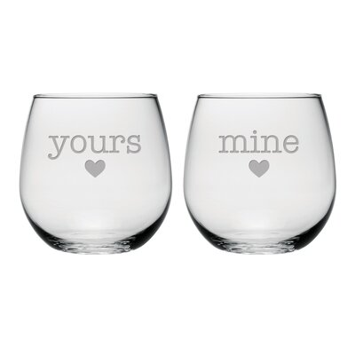 Yours and Mine Stemless Wine Glass WAY-0222-2171-2
