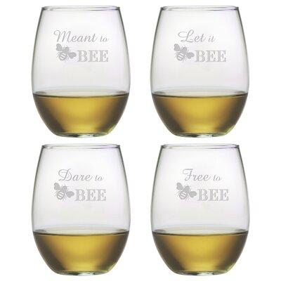 Free to Bee Stemless Wine Glass WAY-9542-709-4