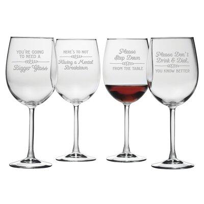 Wine Wisdom Wine Glass WAY-4584-2084-4