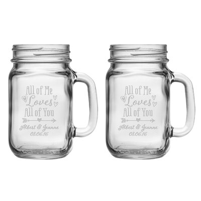 All of Me Loves All of You Drinking Jar WAY-6742-2211-2