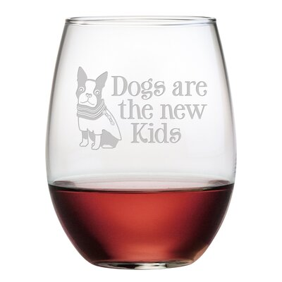 Dogs Are The New Kids Stemless Wine Glass WAY-9542-1726-4